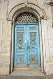 Blue door in a tunisian town Royalty Free Stock Photos
