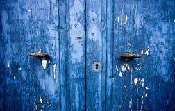 Blue door. Stock Image
