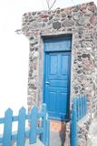 Blue door stock photography