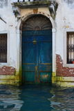 Blue door in Venice Stock Photo
