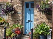 Blue door in the UK Stock Image