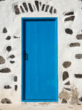Blue Door in White House Royalty Free Stock Photography