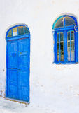 Blue Door & Window Stock Photo