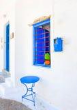 Blue Door & Window Stock Photo