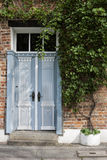 Blue Door and Wine Royalty Free Stock Photos