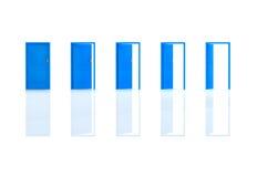 Blue doors Stock Image