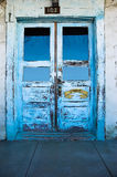 Blue Doors. Of the Casa Juan de Anza, built in 1799 in San Juan Bautista, California stock photo