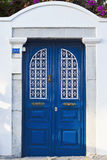 Blue doors. Mediterranean style doors painted blue Royalty Free Stock Photos