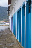 Blue doors in Paraty Royalty Free Stock Image