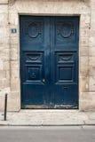 Blue doors in Paris Stock Photos