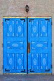 The Blue Doors of San Ysidro Church Stock Photography