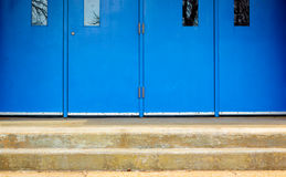 Blue doors and steps Stock Photography