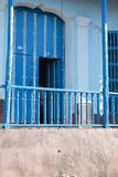 Blue doorway. A blue porch in trinidad cuba stock image