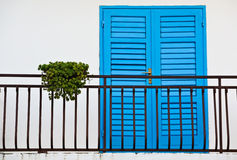 Blue doorway Stock Photo