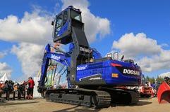 Blue Doosan DX255lc Crawler Excavator Stock Image