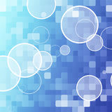 Blue dot abstract background Stock Photography