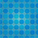 Blue Dot pattern of repeat. Seamless line and dot patterns (print, background, wallpaper Royalty Free Stock Images