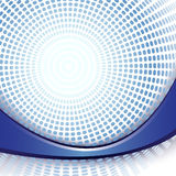 Blue dot shine background Stock Images