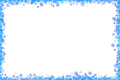 Blue dots fram on white. A set of blue dots forming a frame with white background Royalty Free Stock Images