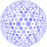 Blue dots on a sphere Stock Photo