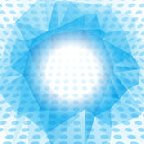 Blue dotted abstract background. Abstract blue and white background with geometrical shapes and gradients Stock Photo