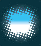 Blue dotted background. Blue background with white abstract dots Stock Images