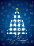 Blue dotted christmas card design. Template Royalty Free Stock Photography