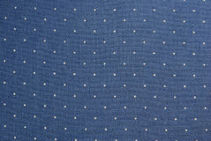 Blue dotted fabric Stock Photography