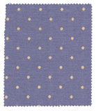Blue Dotted Fabric Swatch Royalty Free Stock Photos
