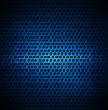 Blue Dotted Metal Background Design. Vector abstract eps 10 Stock Image