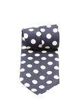 Blue dotted necktie. Stock Images