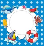 A blue dotted stationery Royalty Free Stock Photos