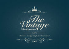 Blue dotted vintage background with ornament Royalty Free Stock Images