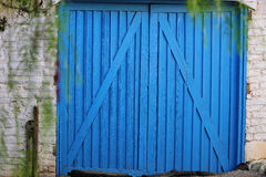 Blue double door Stock Images