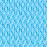 Blue double filled geometric pattern background Stock Photography