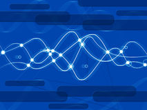 Blue Double Helix Background Shows DNA And Anatomy Stock Photos