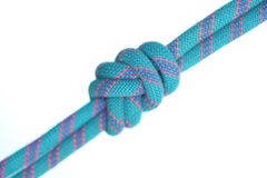 Blue double knot Stock Photography