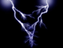 Blue double Lightning Royalty Free Stock Image