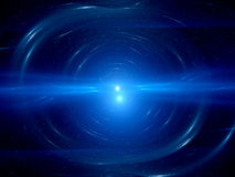 Blue double star system in space Stock Photography