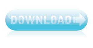 Blue download button Royalty Free Stock Photos