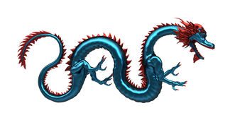 Blue dragon Royalty Free Stock Photos