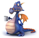 Blue Dragon Royalty Free Stock Photography