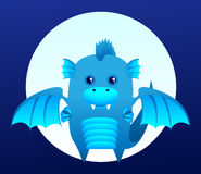 Blue dragon Royalty Free Stock Image