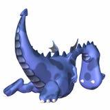 Blue Dragon Cartoon. Blue Male Dragon Cartoon on a white background Royalty Free Stock Image