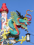 Blue dragon Chinese Royalty Free Stock Image