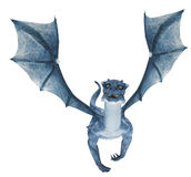 Blue dragon flying Stock Photo