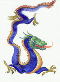 Blue dragon Stock Photos