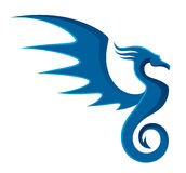 Blue dragon Royalty Free Stock Photos