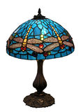 Blue Dragonfly Glass Lampshade Stock Photos