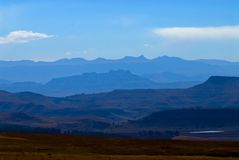Blue Drakensberg Mountains 2 Stock Image